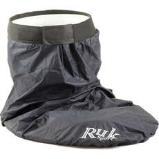 Ruk Canoe / Kayak Standard Spray Deck With Neoprene Waist - Black