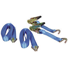 Talamax Tie Down Ratchet Straps - 38mm x 6m [PAIR]