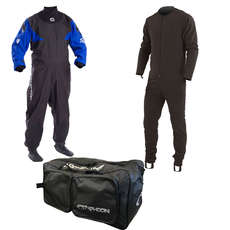 Typhoon Hypercurve Drysuit / Undersuit & Bag - Blue