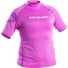 Typhoon Womens Short Sleeve Rash Vest - Violet