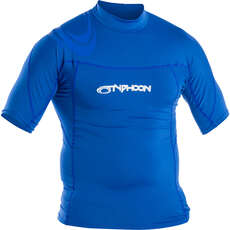 Typhoon Short Sleeve Rash Top - Aqua Blue