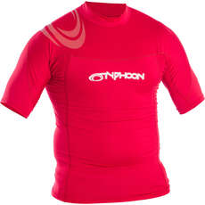 Typhoon Short Sleeve Rash Top - Rich Red