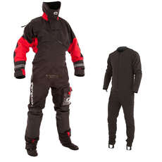 Typhoon Max B Drysuit Black/Red c/w Con Zip 2019 - Incl Undersuit