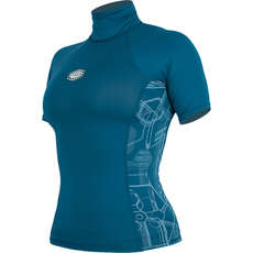 Alder Ladies Cruz Short Sleeve Rashvest  - Marina