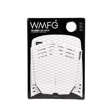 WMFG Kiteboard Traction Pad - Stubby Six Pack Full Pad - White/Black