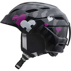 Giro Nine.10 Jr. Kids Childrens Ski & Snowboard Helmet - Black Heart Helix