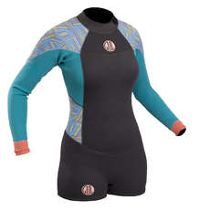 Gul Ladies Surflite 2mm Spring Suit Wetsuit 2019 - Graphite/Lines