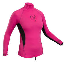 Gul Ladies Swami Long Sleeve Rashvest 2019 - Pink/Black