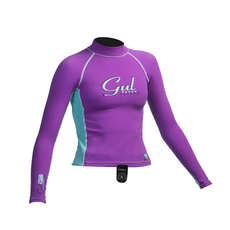 Gul Surf Junior Girls Long Sleeve Rashguard 2019 - Iris/Glacier
