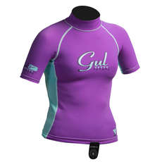 Gul Surf Junior Girls Short Sleeve Rashguard 2019 - Iris/Glacier