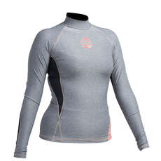 Gul Womens Swami F/L Long Sleeve Rashguard  - Marl/Black
