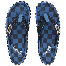 Gumbies Islander Canvas Flip Flops - Checker