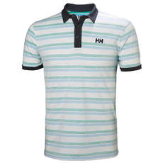 Helly Hansen Fjord Polo - Pepper Green Faded Stripes