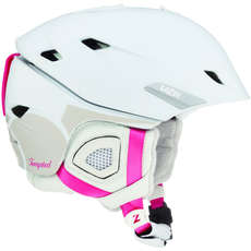 Lazer Tempted Womens Ski & Snowboard Helmet - Matt White/Pink