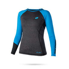Magic Marine Womens Energy Long Sleeve Rashvest 2019 - Blue