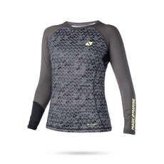 Magic Marine Womens Energy Long Sleeve Rashvest 2019 - Grey