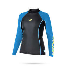 Magic Marine Womens Ultimate 3mm Neoprene Long Sleeve Vest  - Blue
