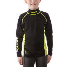 Musto Youth Championship Sunblock Long Sleeve Rash Guard  - Black