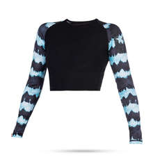 Mystic Womens Dazzled Long Sleeve Croptop  - Mint