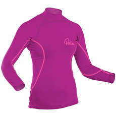 Palm Womens Long Sleeve Rash Guard - Plum