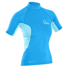 Palm Womens NeoFlex Shortsleeve Top  - Aqua/Glacier