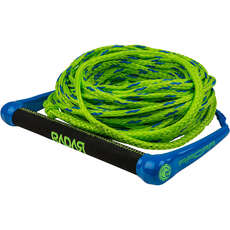 Radar Global Water Sports 13-Inch Handle with 75 Rope - Blue/Green