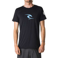Rip Curl Short Sleeve Icon Rash Guard UV Tee 2019 - Black