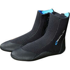 Sola 5mm Zipped Wetsuit Boots - Black/Blue - A1213