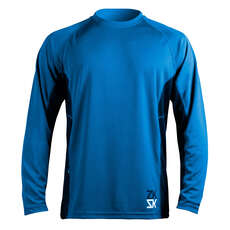 Zhik Mens Long Sleeve Zhikdry Sailing Top - Blue